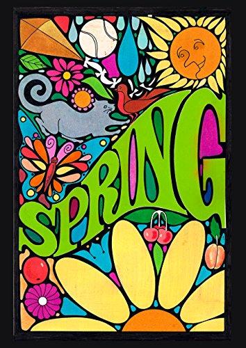 Toland Home Garden Groovy Spring 12.5 x 18 Inch Decorative Spring Psychadelic Vintage Retro Garden Flag]()