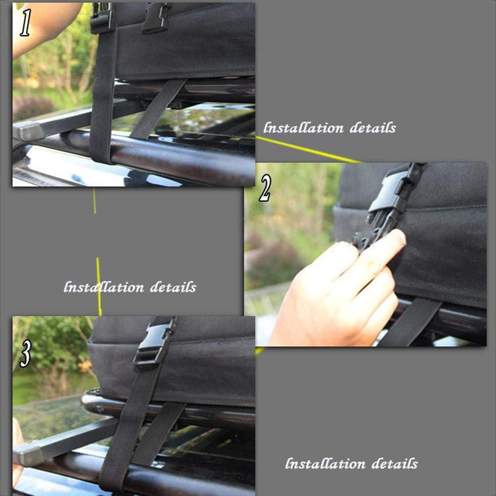 Foliner dachbox dachbox Auto dachgep/äcktr/äger wasserdichte Gep/äckaufbewahrungsbox auf dem weichen Dach mit 8 verst/ärkten Gurten Wasserdichter Gep/äcktr/äger auf dem Dach 350L
