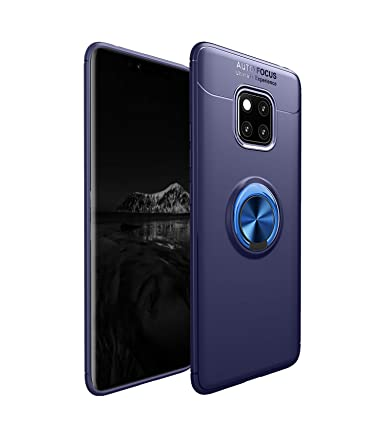 Jaorty for Huawei Mate 20 Pro Case,360 Degree Rotation Invisible Metal Ring Kickstand Protective Case Compatible Magnetic Car Mount Soft TPU Case ...