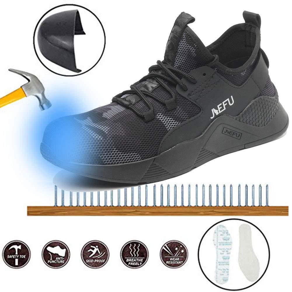 SUADEEX Sicherheitsschuhe Herren Damen Arbeitsschuhe S3 Leicht Sportlich Atmungsaktiv Schutzschuhe Stahlkappe Sneaker Turnschuhe Outdoor Schuhe Unisex
