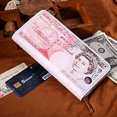 Women Credit Bifold Red Holder Zipper ID Leather Business huichang Men Pockets Wallet Card Fqx0UfqO