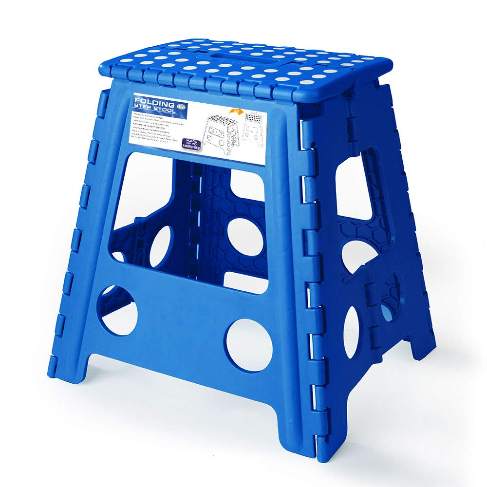 Marvelous Acko 16 Inches Super Strong Folding Step Stool For Adults Kitchen Stepping Stools Garden Step Stool Blue Ocoug Best Dining Table And Chair Ideas Images Ocougorg