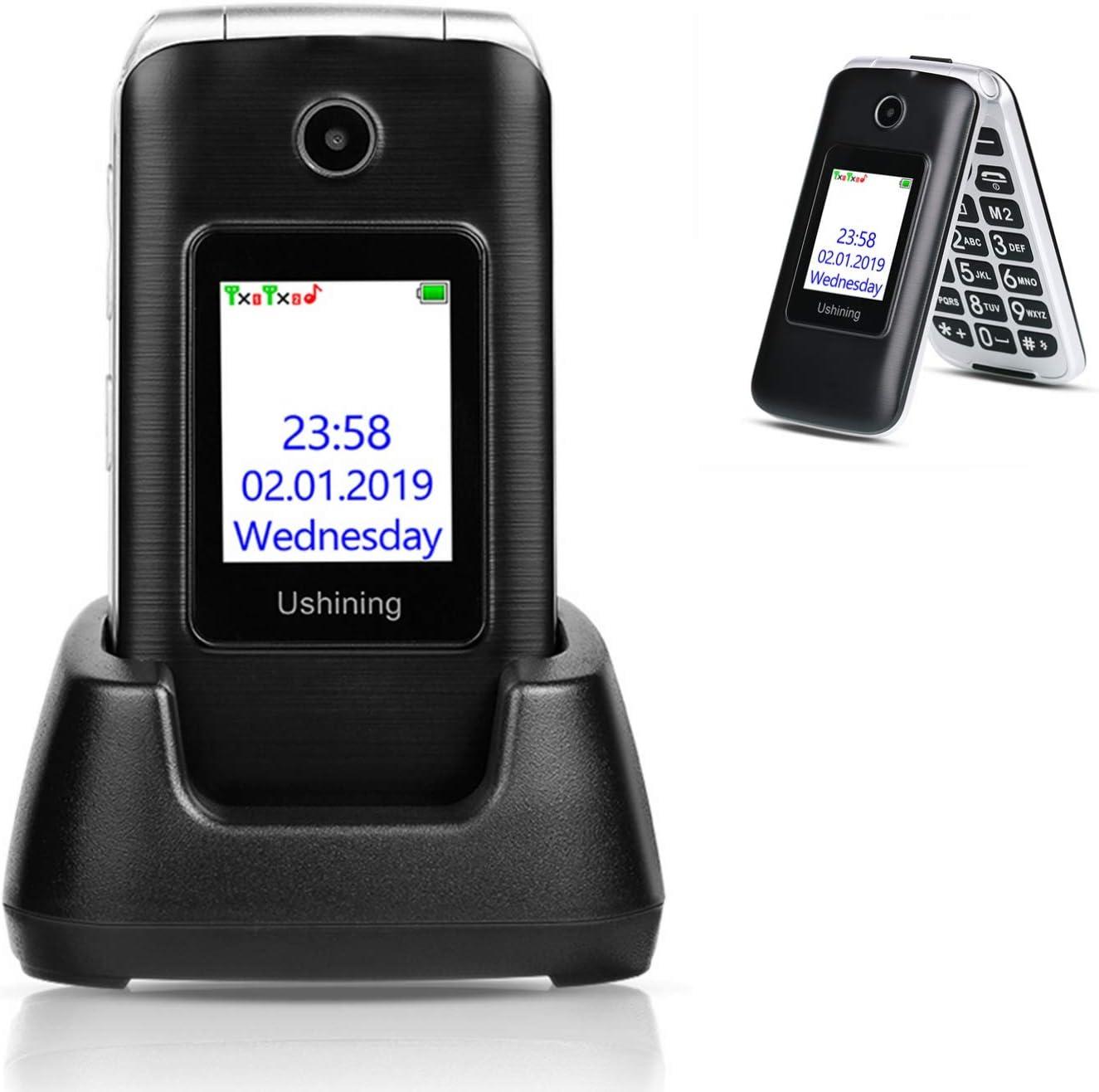 Amazon Com Ushining 3g Unlocked Senior Flip Phone Dual Screen