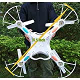 NiGHT LiONS TECH® 37.5 Inch Monster Drone N7C 4 Channel 6 Axis GYRO Big Quadcopter with 2MP HD Camera For Outdoor Flying, Upgraded version