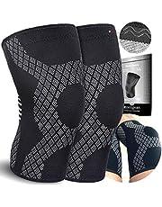 Kniebrace (2 stuks) - Compressie kniebeschermer - Kniesteun voor Arstrose, meniskusrisschess, gewrichtspijn, bandletsel, ACL, MCL, Crossfit, knieorthese