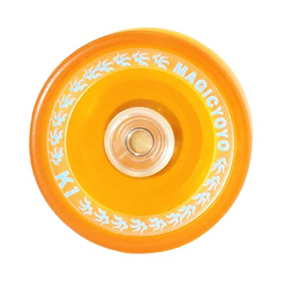 Baoblaze Yoyo Profesional Mágico Rotary de Cuerdas, Juguetes para Malabarismo - Naranja K1: Juguetes y juegos