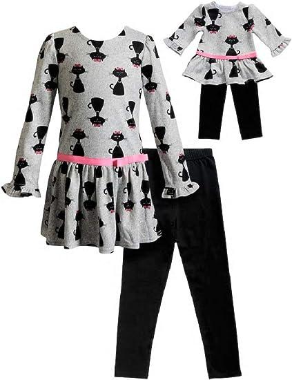 Girls Set Unicorn Top And Legging 2 Piece Set Glitter New Kids Age 4-14 Yrs