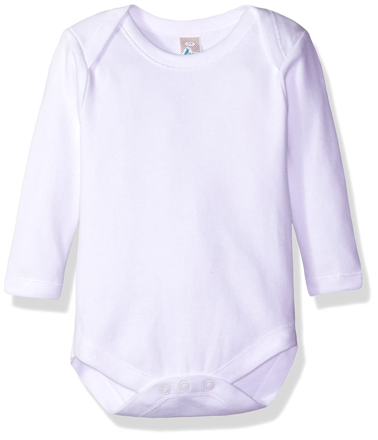 19e7d0d60 Amazon.com: Soft Cotton Onesies, Long Sleeve Unisex Bodysuit, WSLR 3-6  1-Pack: Clothing