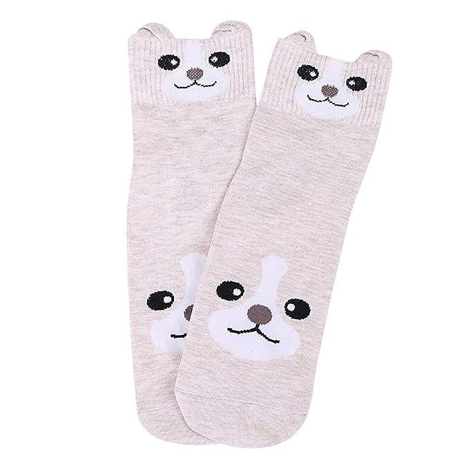 LHWY Calcetines de algodón de mujer Animal Gato Arte Animación Personaje Regalo lindo Vestido Calcetín: Amazon.es: Ropa y accesorios