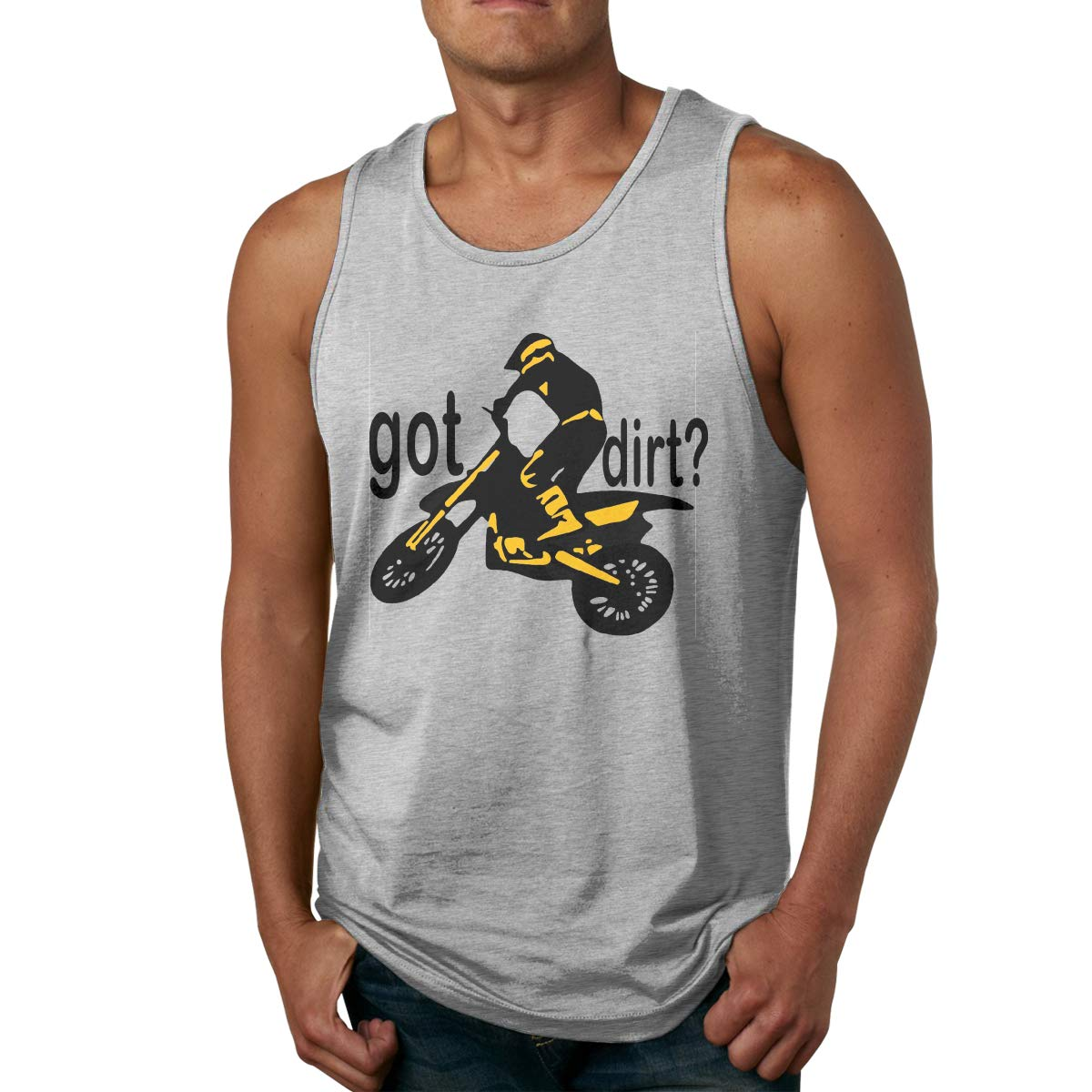 LLXM Got Dirt Bike Motocross Racing Men Printed Vest Sports Tank-Top Shirt Leisure Tees Sleeveless Shirts