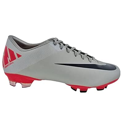 brand new 9f1df 09925 Amazon.com | Nike Mercurial Victory II FG (Gray/Pink, 6.5 ...