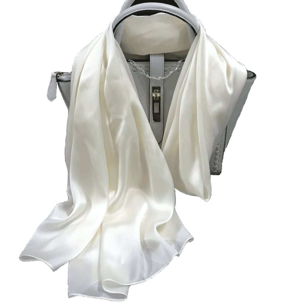 ENYI Scarf Lightweight Scarf Female Wild Thin Silk Beige Scarf by ENYI