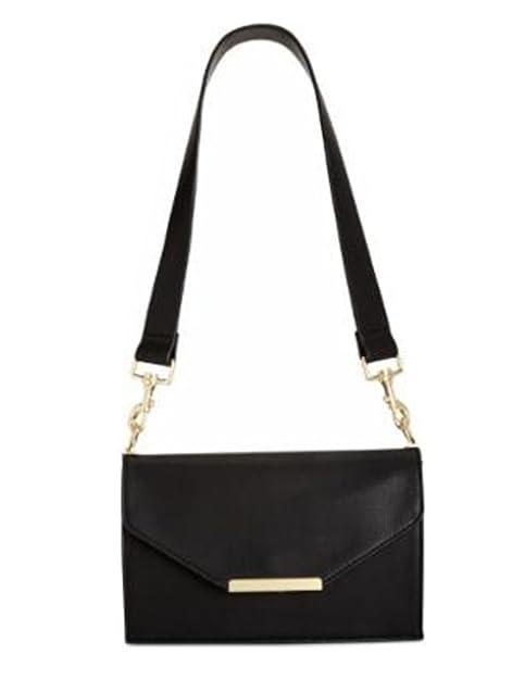 0bc6a28c1c INC Womens Yvonn Faux Leather Flap Crossbody Handbag Black Small  Handbags   Amazon.com