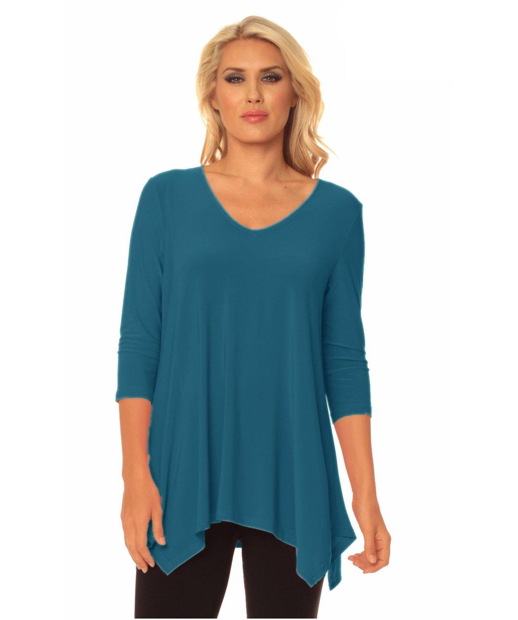 Alisha.D Travel Wear Tunic Fall Colors (Large, Indigo)