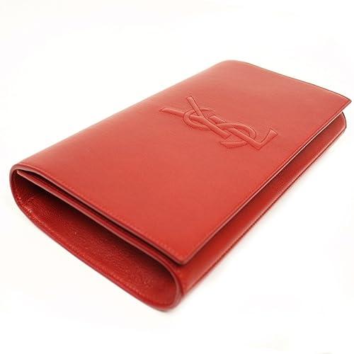 d101c62312eec Yves Saint Laurent YSL Belle De Jour Large Red Leather Clutch Bag 361120   Amazon.ca  Shoes   Handbags
