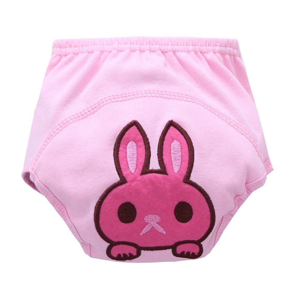 Kingko® Infant Unisex Baby Potty Training Kids Pants Animal Cartoon Ruffle Panties Briefs Diaper Cover Pants 80-100 (Age:18-24Month, A)