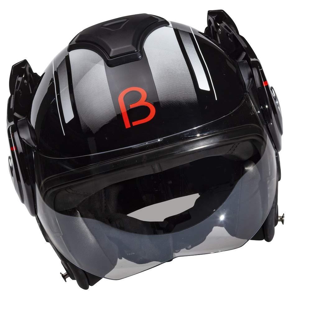 Beon B702 Reverse S noir brillant asque moto /à visi/ère Coloris
