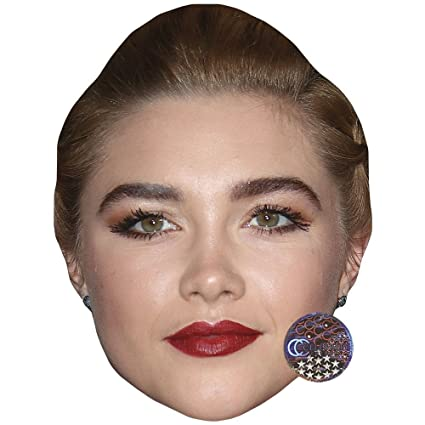 Florence Pugh Na >> Amazon Com Florence Pugh Celebrity Mask Card Face And