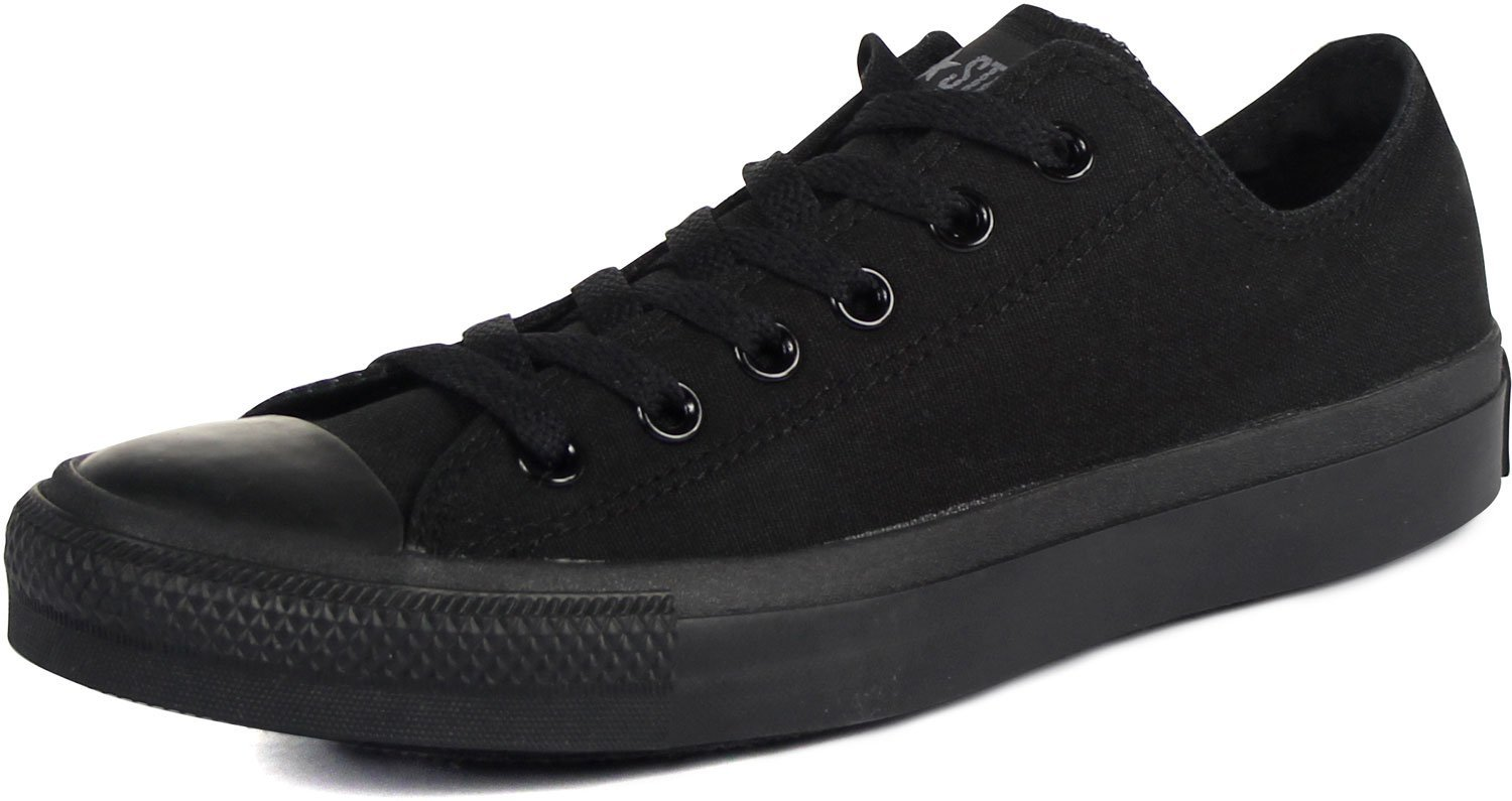 Converse Unisex Chuck Taylor All Star Low Top Black Monochrome Sneakers - 15 D(M) US