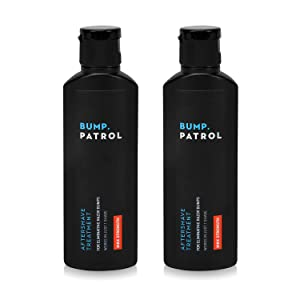 Bump Patrol Maximum Strength Aftershave Formula - After Shave Solution Eliminates Razor Bumps and Ingrown Hairs - 4 Ounces 2 Pack