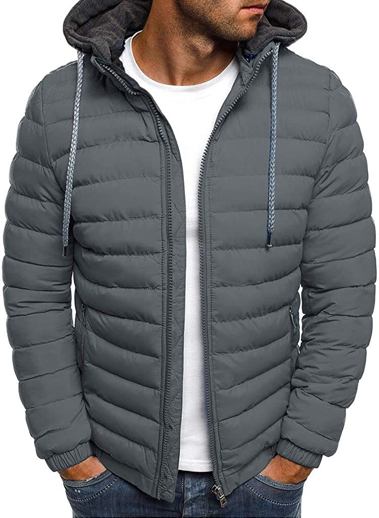 Winter Coat Parkas Mens Down Jacket Lightweight Water Resistant Packable Business Casual Down Puffer Jacket for Adults and Students Casual