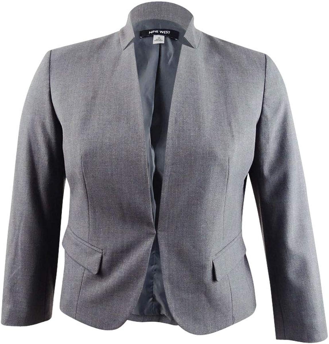 NINE WEST Women's Stand Back Spring new work Collar Kiss JKT Front Super-cheap