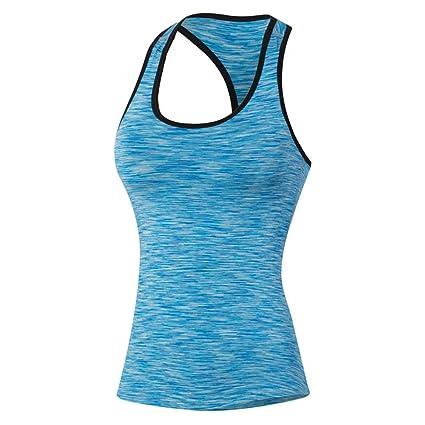 Qutool – Camiseta de tirantes para mujer, para hacer deporte, correr o yoga.