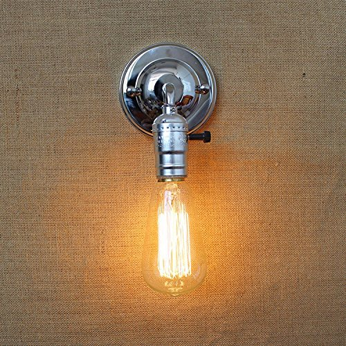 American rural idyllic modern Edison bulb antique single head off road mini living room decorated in a minimalist wall lights, Small Button Switch ,LED Bulb
