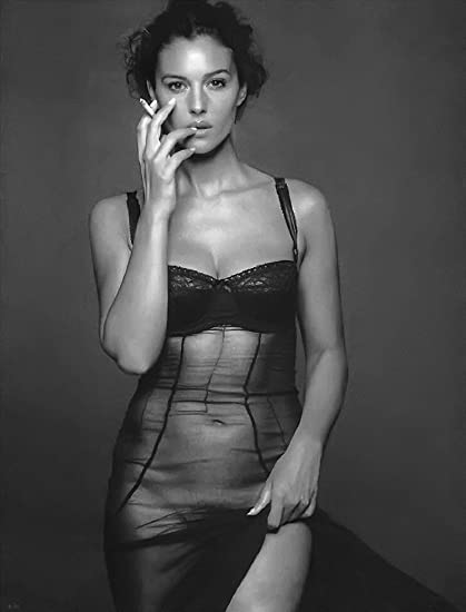 Monica Bellucci Sexy Model Fabric Cloth Rolled Wall Poster Print Size 17quot