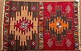 Vintage Kilim Rug - Turkish oriental area and runner rugs, handmade, hand woven (3 x 4.6)