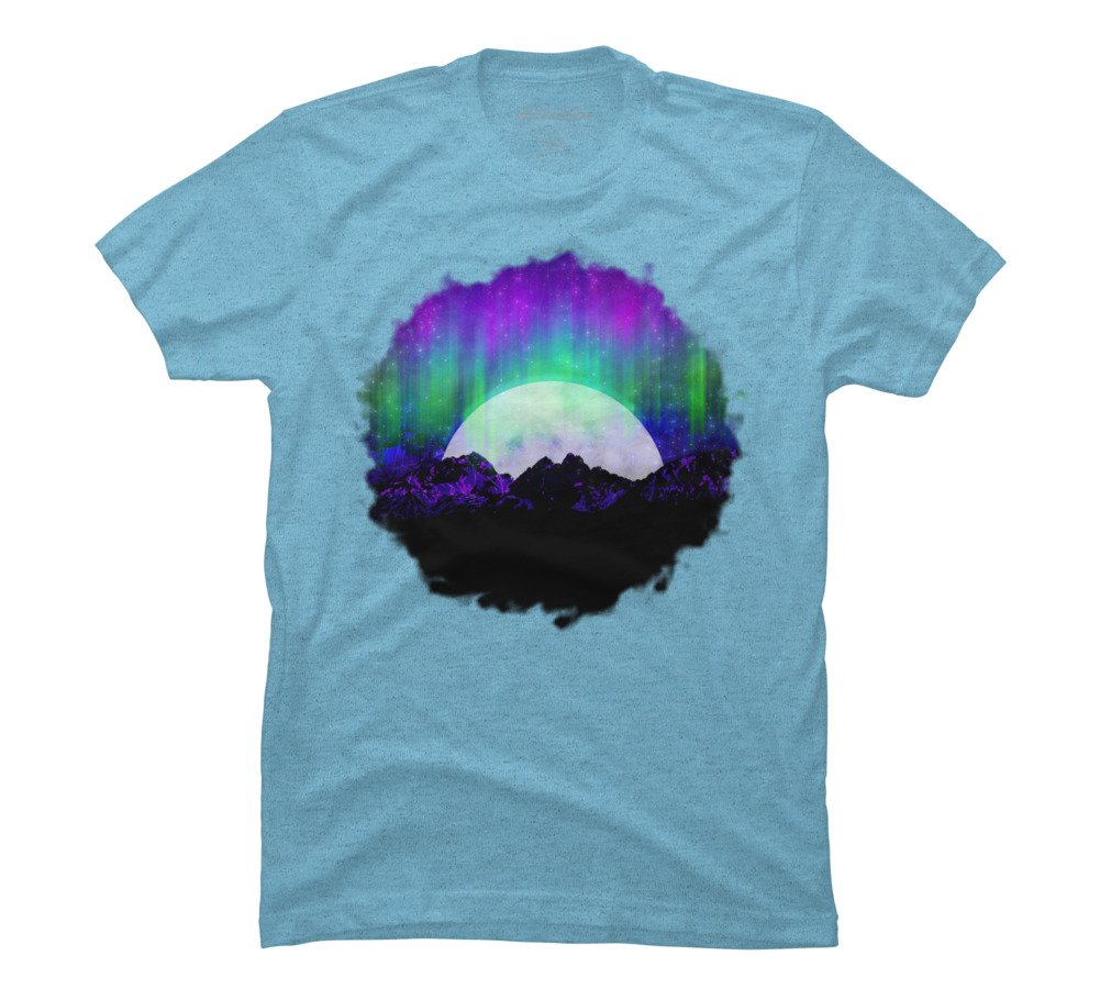 Under The Northern Lights S Sky Blue Heather Graphic T Shirt