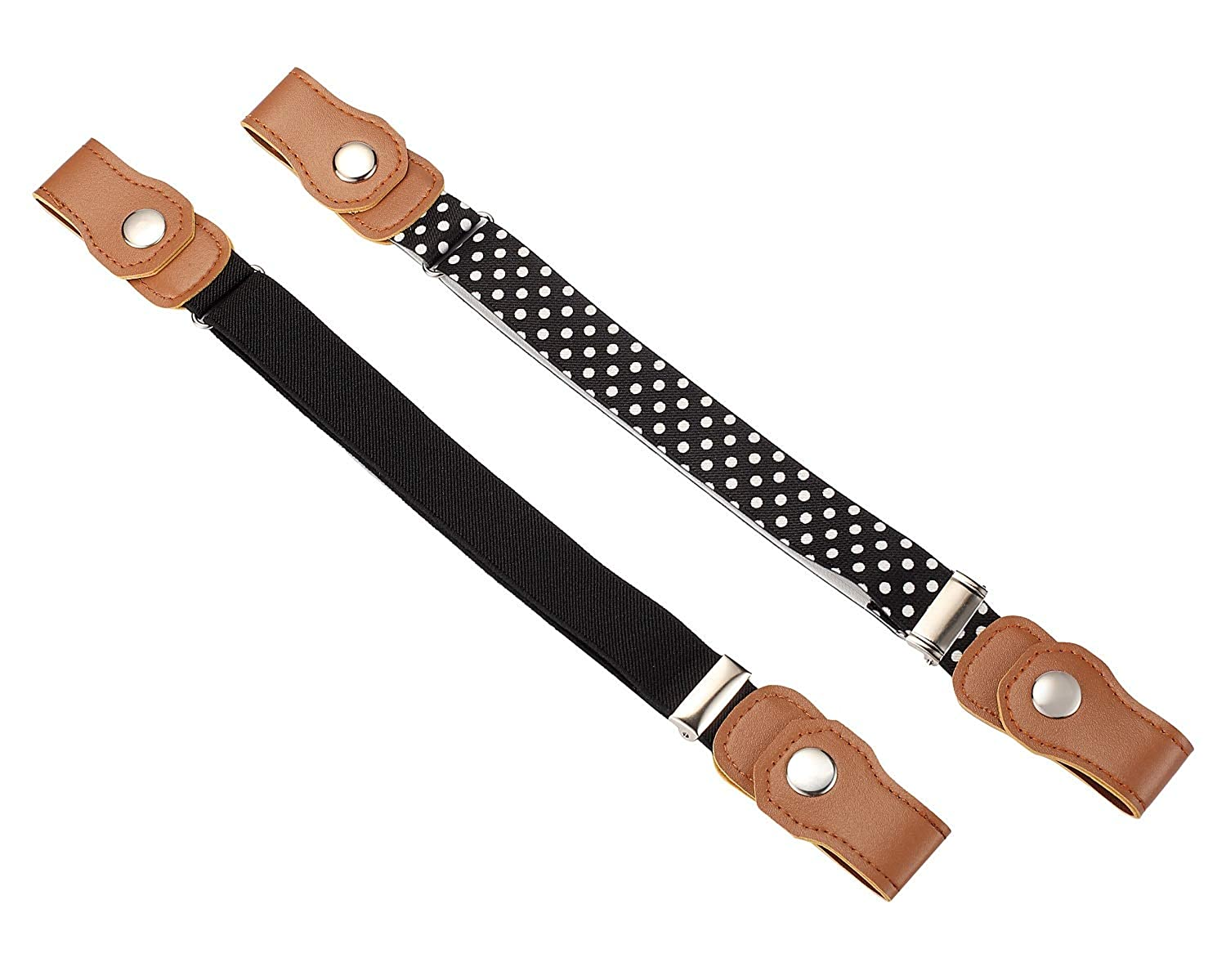 Motase 2pc 2-12 year old Kids' Buckleless Belt Elastic Toddler Belts for Boys and Girls