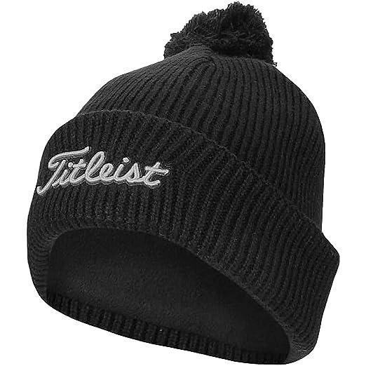 723f12a3a22 Amazon.com  Titleist Pom Pom Winter Golf Stocking Hat Beanie (Black)   Electronics