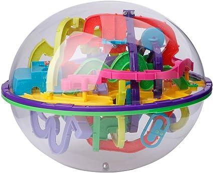 3D House Style Maze Intellect Ball Balance Game Puzzle Kids X-mas Toys OD