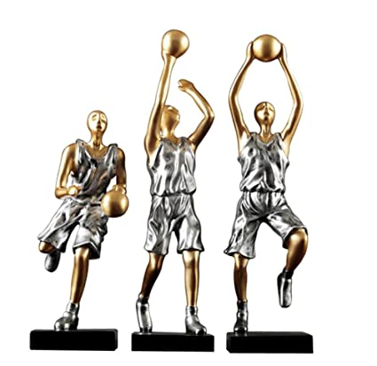 Amazon Com Zr Simple Personality Resin Basketball Doll