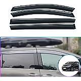 For Honda Odyssey 95-98 Window Deflectors Tape-On Standard Ventvisor Smoke Front
