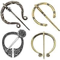 Vintage Viking Brooches Pins, Medieval Cloak Pin Shawl Pin Clasp Penannular Scarf Cardigan Pin Brooch for Men Women…