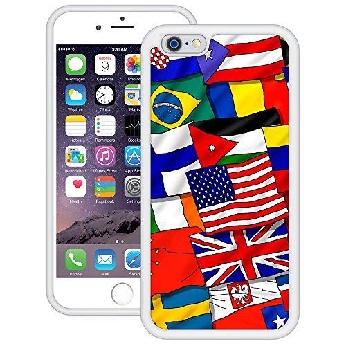Flagge der Welt   Handgefertigt   iPhone 6 6s (4,7')   Weiß TPU Hülle