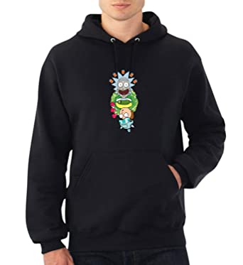 Upside Down Scientist Rick and Morty Hoodie Capucha Suéter Sweater Christmas Pullover Hood 2XL Black Hoodie: Amazon.es: Ropa y accesorios