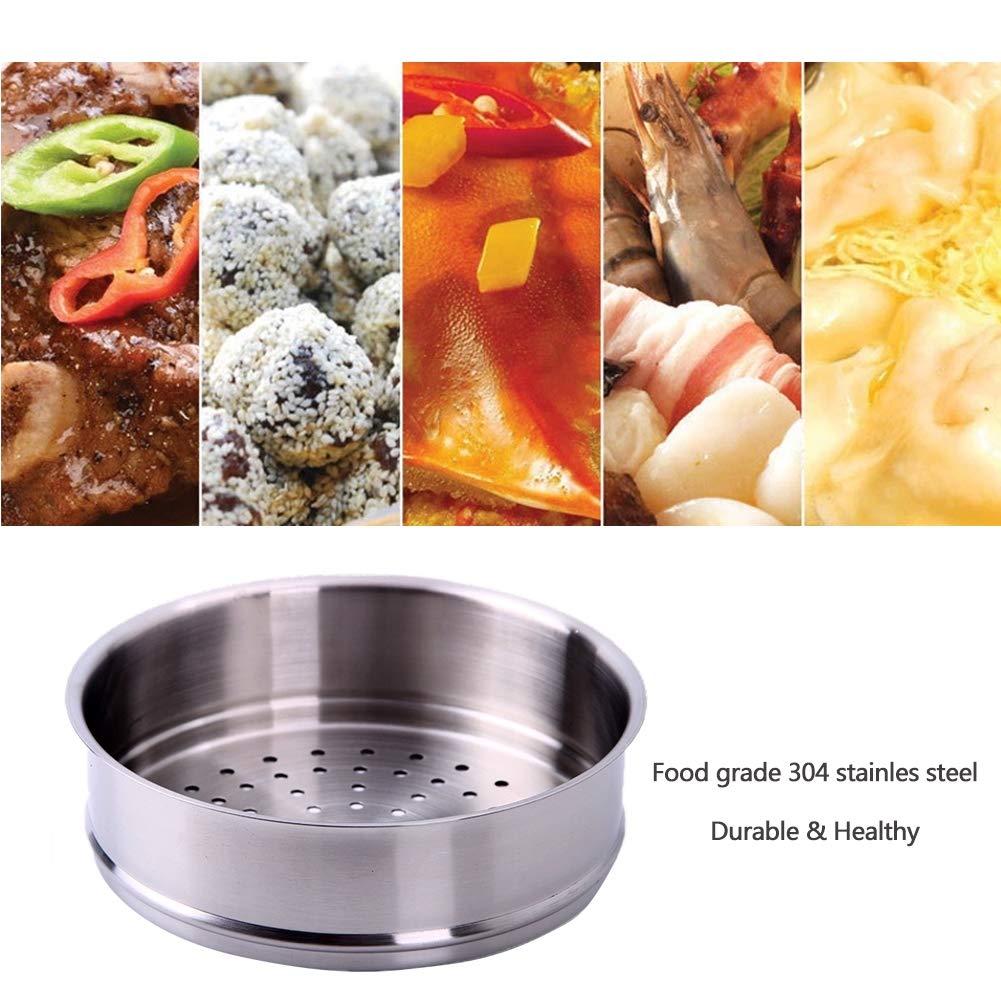 Edelstahl Dampfgarer f/ür Suppentopf Eier f/ür einen ges/ünderen Lebensstil,Silver,26cm dampfende Nudeln gro/ßes Fassungsverm/ögen weniger /Öl perfekt f/ür Haushaltsfisch