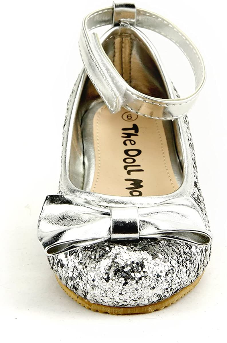 skyhigh Girls Sparkly Wedding Party Dress Shoes 5 Colors Ankle Wrap Toddler Size
