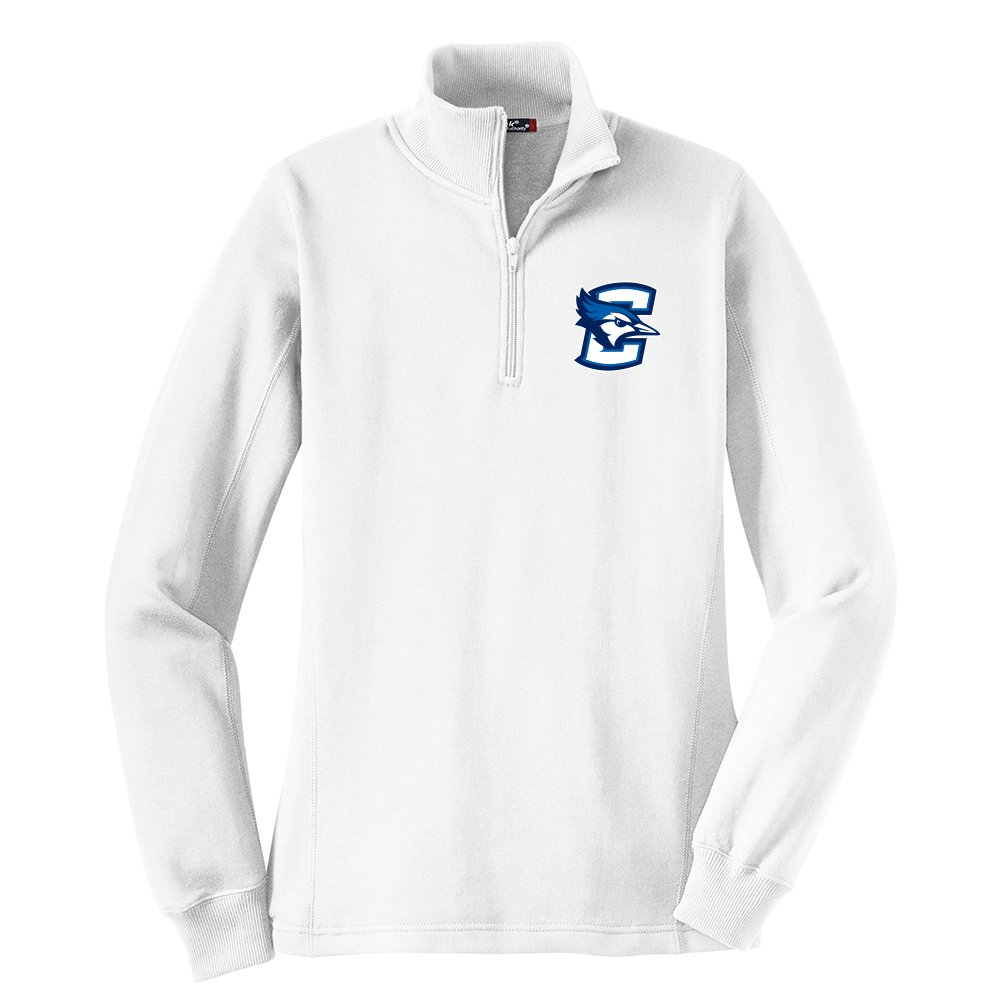 Xx-Large White Campus Merchandise NCAA Creighton Bluejays Womens 1//4 Zip Pullover