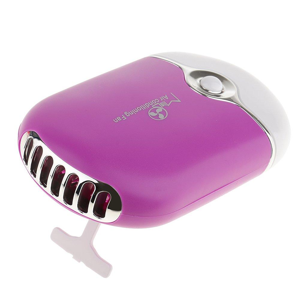 MagiDeal Mini USB Ventilatore Aria Condizionata Asciuga Ciglia per Estensione Ciglia Asciugabiancheria per Eyelash Colle - Viola