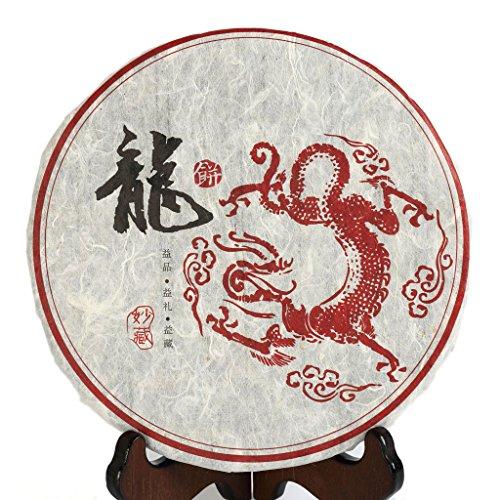 2012 Year 300g Nonpareil Supreme FuDing Organic Bai Mu Dan BaiMuDan White Peony White Tea Dragon Iron Cake by GOARTEA