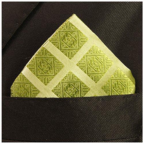 Paul Malone de carré de poche mouchoir 100% soie Noir rayé