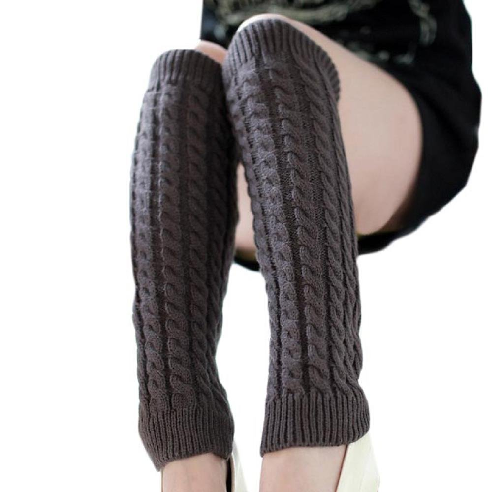 Tenworld Women Winter Gift Fashion Leg Warmers Knitted Crochet Long Socks Tenworld-socks