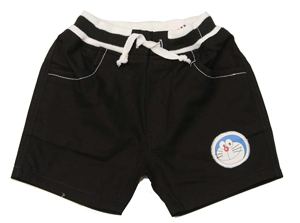 Romano Black Kids Cotton Bermuda Shorts