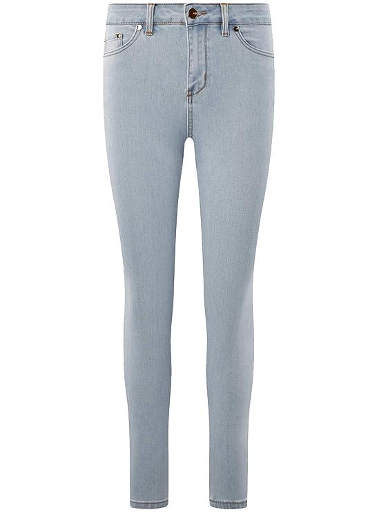 oodji Ultra Femme Jean Skinny Taille Haute  Amazon.fr  Vêtements et  accessoires 5f8f24204676