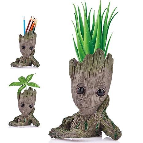 Pot De Fleurs Angker En Forme De Groot Personnage De Dessin Animé Modèle Mignon Pour Plante Succulentes Plantes Vertes Fleurs Avec Trou