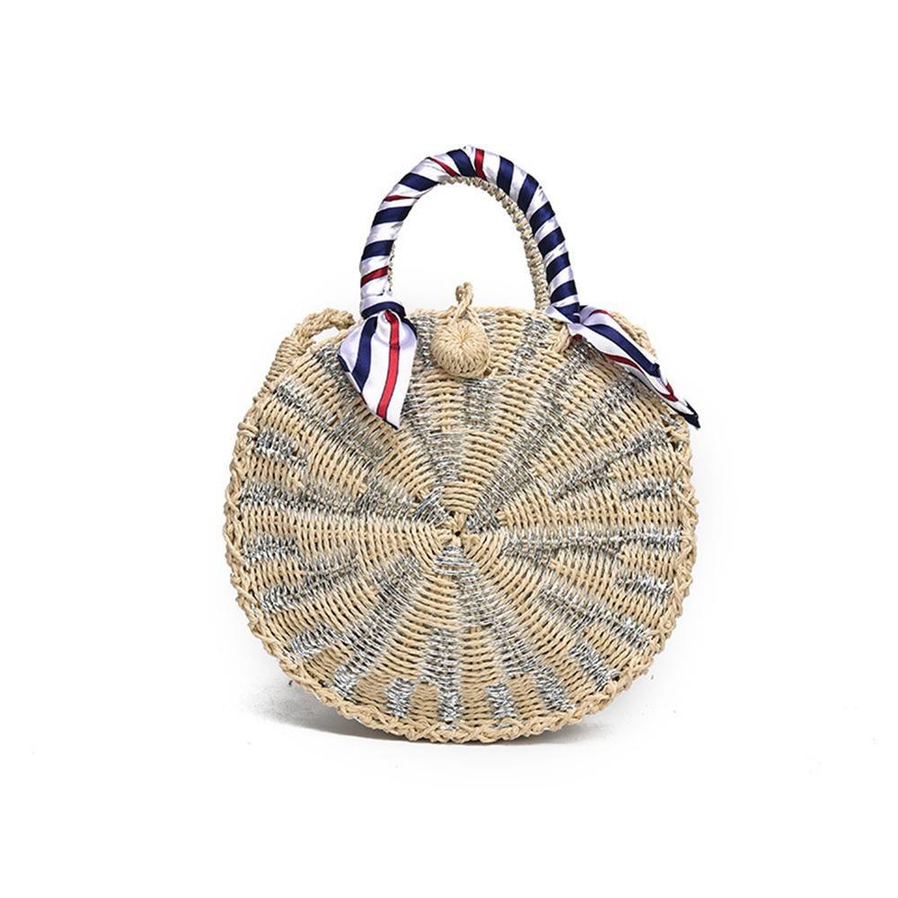 FOONEE Handwoven Round Straw Bag, Weaved Bag for Straw Tote Bag, Crossbody Bag & Shoulder Bag.